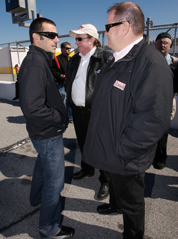 Dario Franchitti with Richard Childress and Chip Ganassi