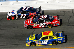 Sam Hornish Jr., Carl Edwards and Elliott Sadler
