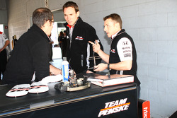Team Penske team members at work