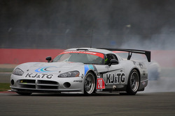 GT3 Dodge Viper Competition Coupe smoking rear tyre