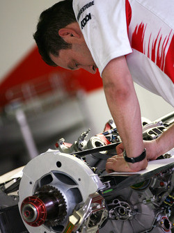 Toyota team mechanic