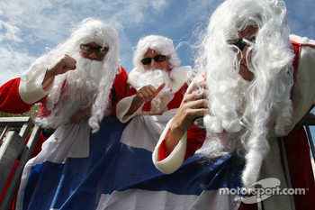 Finnish fans in Santa Claus outfits