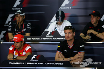 FIA press conference: Kazuki Nakajima, Williams F1 Team, Robert Kubica,  BMW Sauber F1 Team, Sebastian Vettel, Scuderia Toro Rosso, Felipe Massa, Scuderia Ferrari and David Coulthard, Red Bull Racing