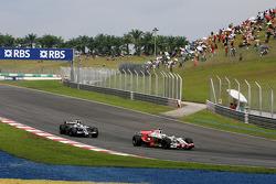 Giancarlo Fisichella, Force India F1 Team, Nico Rosberg, WilliamsF1 Team