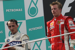 Podium: race winner Kimi Raikkonen, second place Robert Kubica
