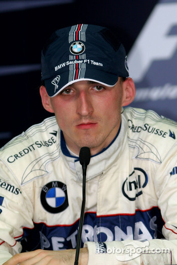 Press conference: second place Robert Kubica