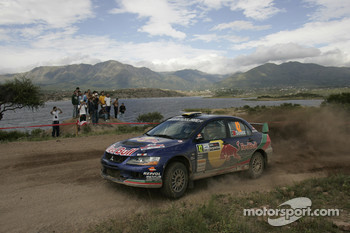 Bernardo Sousa and Carlos Magalhaes, Red Bull Rallye Team Mitsubishi Lancer Evo IX