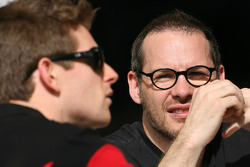 Jacques Villeneuve, former Formula One World Champion, Anthony Davidson, Super Aguri F1 Team