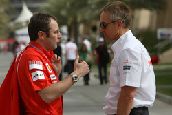 Stefano Domenicali, Scuderia Ferrari, Sporting Director and Martin Whitmarsh, McLaren, Chief Executive Officer