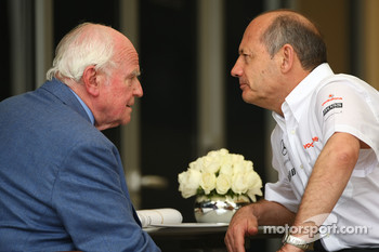 Professor Sid Watkins with Ron Dennis, McLaren, Team Principal, Chairman