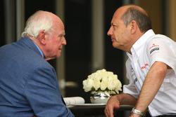 Professor Sid Watkins with Ron Dennis, McLaren, Team Principal, Chairman