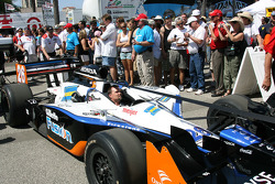 Car of Marco Andretti is taken to the paddock