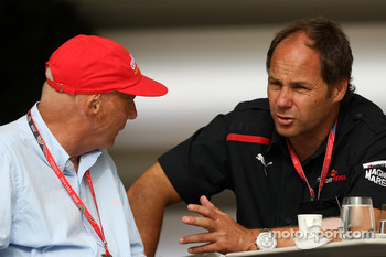 Gerhard Berger, Scuderia Toro Rosso, 50% Team Co Owner, Niki Lauda, Former F1 world champion and RTL TV