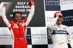 Podium: race winner Felipe Massa, third place Robert Kubica