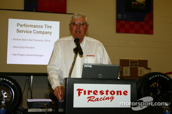 Al Speyer, executive director of Firestone Racing