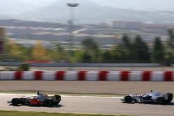 Nick Heidfeld, BMW Sauber F1 Team, Pedro de la Rosa, Test Driver, McLaren Mercedes