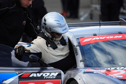 David Jones Ascari Team Eurotech Preci-Spark in pits