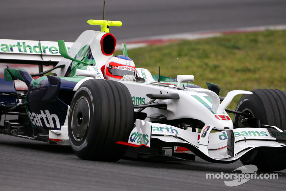 Rubens Barrichello, Honda Racing F1 Team, RA108 with new radical front wing
