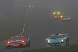 #62 Scuderia Ecosse Ferrari 430 GT2: Fabio Babini, Jamie Davies, #13 Team Rbimmo / B-Racing Saleen SR7: Jos Menten, Andrea Piccini
