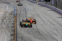 Will Power hounded by Justin Wilson