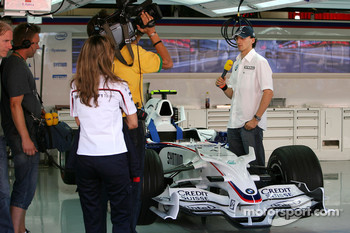 Robert Kubica,  BMW Sauber F1 Team does a TV interview