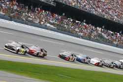 Dale Earnhardt Jr. and Tony Stewart lead the field