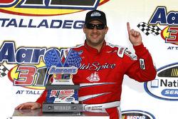 Victory lane: race winner Tony Stewart