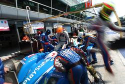 Pit stop for #17 Pescarolo Sport Pescarolo - Judd: Christophe Tinseau, Harold Primat