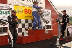 DP podium: champagne celebration