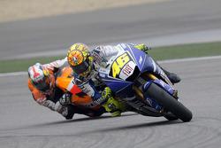 Valentino Rossi leads Dani Pedrosa