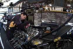 Tony Schumacher's crew working on race morning
