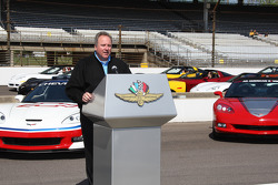 IndyCar Series President Brian Barnhart during Opening Day ceremonies