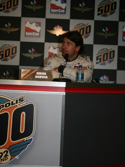 Oriol Servia in a press conference after rookie orientation on opening day
