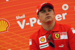 Kimi Raikkonen, Scuderia Ferrari, Shell Press Conference