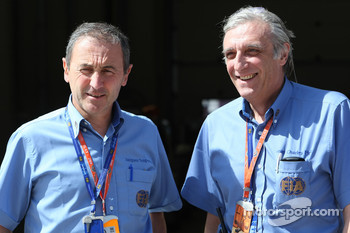 FIA Medical Staff, Jacques Tropenat FIA, Medical Car Driver of Formula 1 and GP2 and Jean-Charles Piette, FIA Formula One Medical Delegate