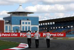 Lewis Hamilton, McLaren Mercedes walks the circuit