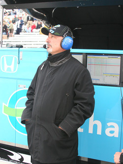 Bobby Rahal watches the weather