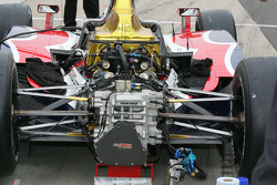 Detail of the rear end of an Indy Car
