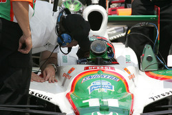 Tony Kanaan visits with Brian Barnhart