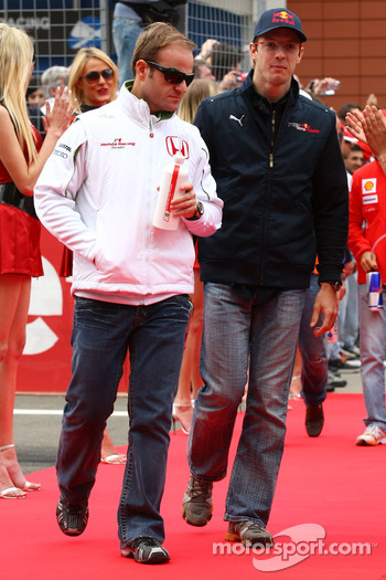 Rubens Barrichello, Honda Racing F1 Team and Sébastien Bourdais, Scuderia Toro Rosso
