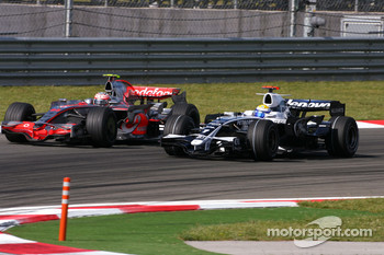 Nico Rosberg, Williams F1 Team, Heikki Kovalainen, McLaren Mercedes