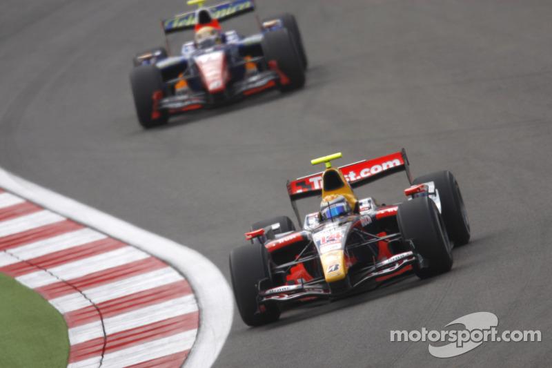 Sebastien Buemi leads Giorgio Pantano