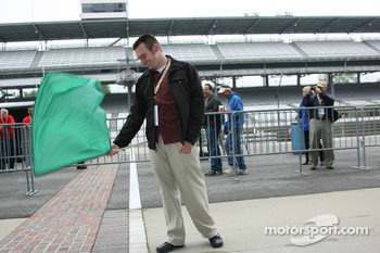 Honorary Starter, Jon Laski, 2008 Purdue Grand Prix Winner and IUPUI Student