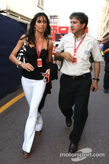 Elisabetta Gregoraci, Wife of Flavio Briatore and Pasquale Lattuneddu, FOM, Formula One Management