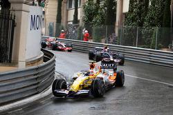 Nelson A. Piquet, Renault F1 Team leads Sebastian Vettel, Scuderia Toro Rosso