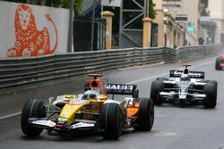 Fernando Alonso, Renault F1 Team leads Nico Rosberg, WilliamsF1 Team