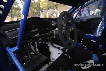 The cockpit of the Impreza WRC2008