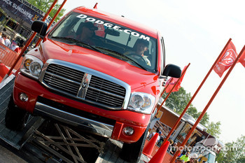 NASCAR fans test drive Dodge Trucks in Victory Plaza