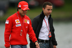 Felipe Massa, Scuderia Ferrari and Nicolas Todt, Manager of Felipe Massa