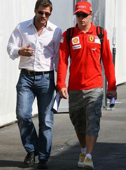 Steve Robertson, Manager of Kimi Raikkonen and Kimi Raikkonen, Scuderia Ferrari